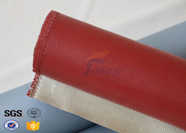 1000 Degrees Red Coating High Silica Fabric Thin Fiberglass Cloth 700gsm